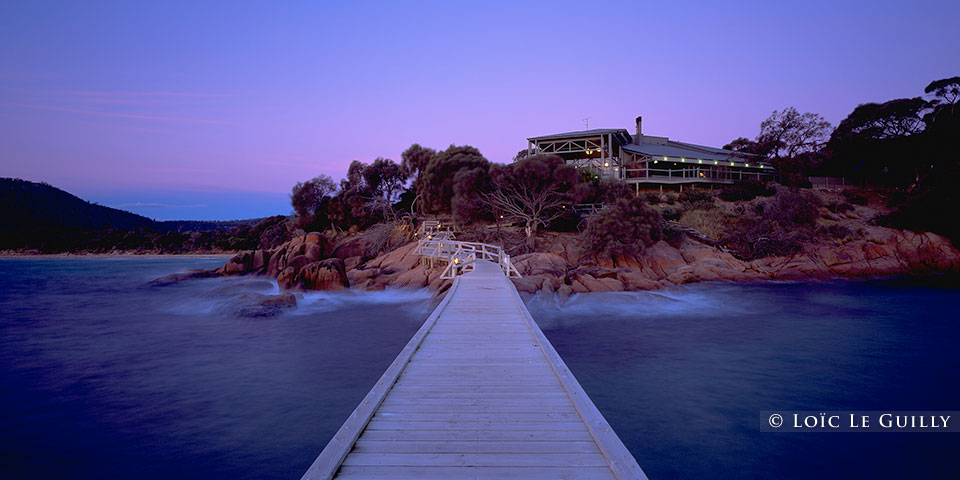 Freycinet Lodge at dusk