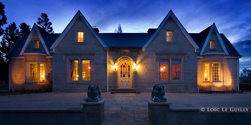 The Priory Lodge - exterior dusk