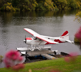 photo of a seaplane on the Derwent River