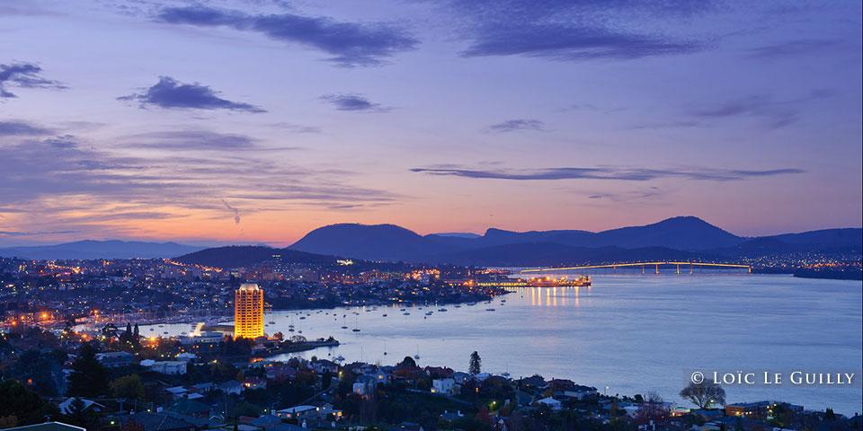 Hobart dusk - landscape photogaphy