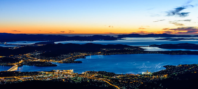 Hobart dawn and sunrise